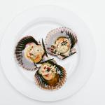 Grilled scallops with chilli butter and sesame