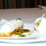 Vanilla Fromage Blanc Fontainebleau / Tropical fruit / Pina Colada sorbet