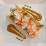 Risotto aux champignons, homard et écrevisses, sauce bisque de homard
