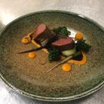 Rump of beef, pommes mousseline, heritage carrots, crispy Kale, Beef Jus