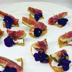 Parma ham and fig crostini