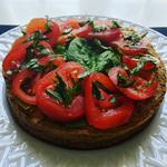 Tarte ricotta / épinards / tomates