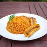 Jollof rice & plantain