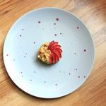 Bavarois - vanille - lavande - fraise