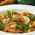 Bo-Bun de crevettes au thé de citronnelle  et légumes de saison