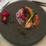 Homard au beurre salée et  risotto de daikon