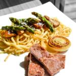 Porc de Bigorre et garniture printanière à l'italienne.