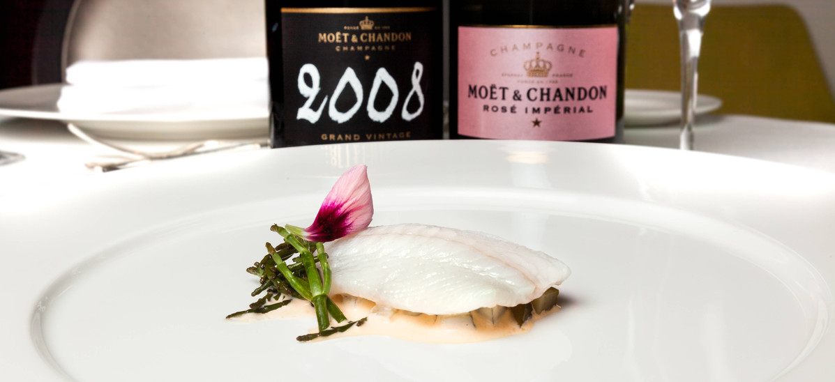 Effervescent Glamour -  Paired with Moët Rosé Imperial and Moët & Chandon Grand Vintage 2008