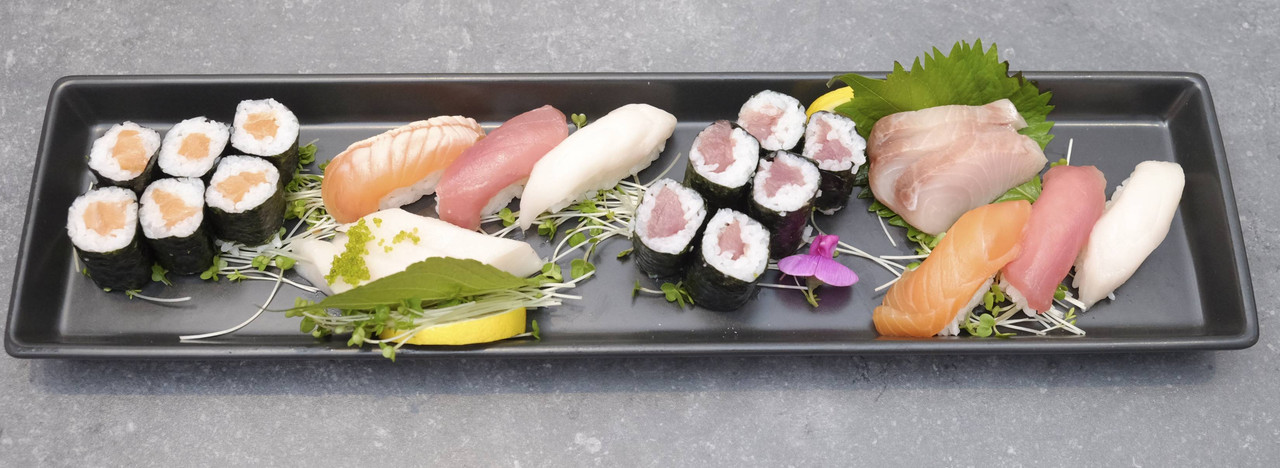 Authentic sushi, prepared before your eyes