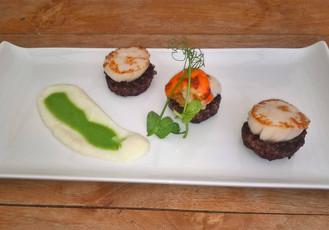 Scallops, Steak, Mousse